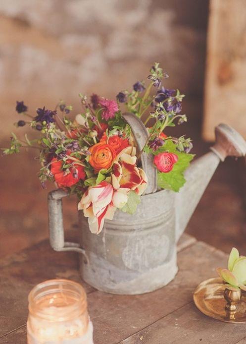 Rural wedding flower decoration