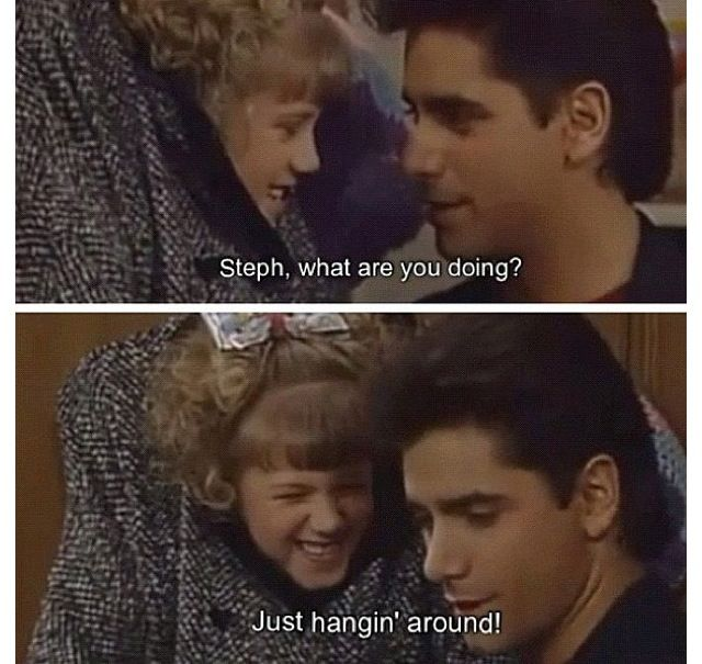 Full House.... ......Stephanie breaks the house with Joey's car and runs away episode.... ......this part of the show was funny