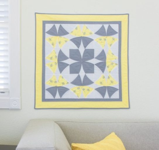 """Cut all the pieces for this Winding Ways Quilt in just minutes! The @AccuQuilt GO! Winding Ways """"Block on Board"""" Die allows you to create each entire block with one die!"""