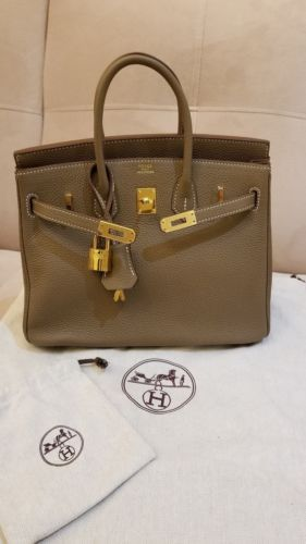 f38ca46a412 Details about Genuine Togo Calfskin Leather Inspired Birkin Bag with ...