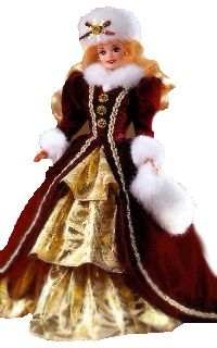 1996 Holiday Barbie--I think I have her, but it might have been the year that they sold out before my mom could get one!