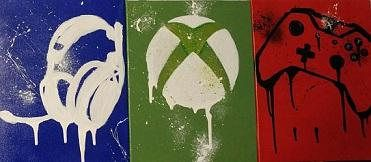 Set of three (3)Custom gaming canvas Perfect for any man cave, gamer set up, or casual gamers room Get your own canvas made with custom colors and other specifications After or before you place an order just let me know in a message or in the order notes what you want, Xbox,