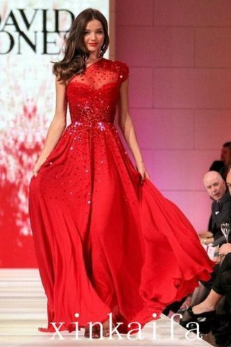 2015-New-Arrival-Red-One-Shoulder-Sequins-Bead-Evening-Pageant-Formal-Prom-Dress
