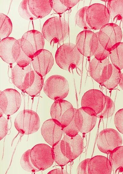 Printed balloons.