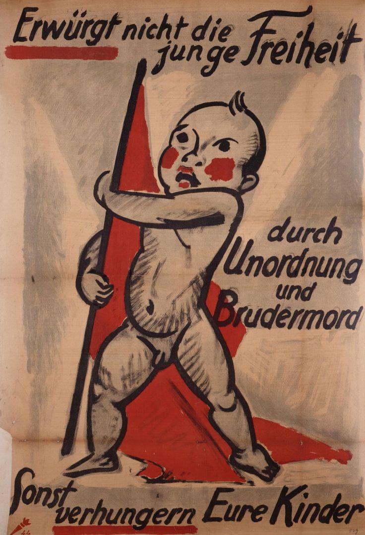 Plakat, Max Pechstein Werbedienst der Deutschen Republik