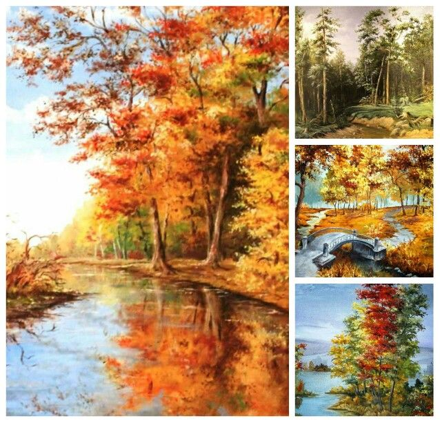 Oil paintings autumn landscape
