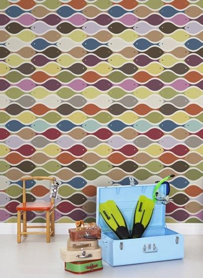 Love this fish wallpaper!