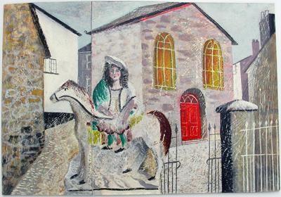 Girl & Horse Near Ben's Studio: St Ives by Jonathan Christie