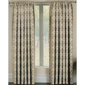 allen roth thaddeus 63in l geometric pearl rod pocket window curtain panel