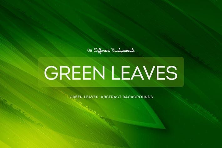 Green Leaves Abstract Backgrounds COL 1 by mamounalbibi