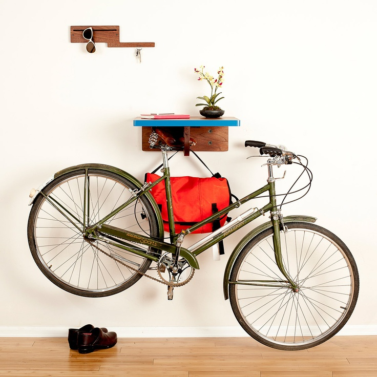 17 best images about home is where you hang your bike on Bicycle bookshelf