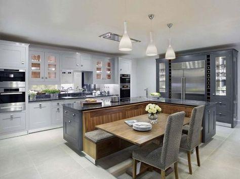 Die besten 25+ große offene Küchen Ideen auf Pinterest Haus - offene küche wohnzimmer abtrennen
