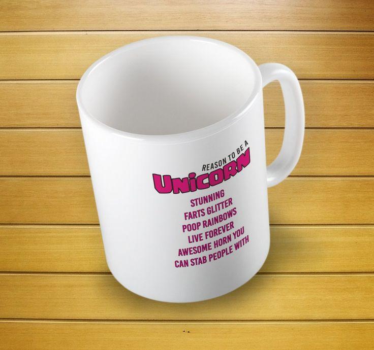 Unicorn Reason Mug #unicornmug #unicorngift #unicorncup #unicorn #giftforher #mugs #mug #whitemug #drinkware #drink&barware #ceramicmug #coffeemug #teamug #kitchen&dining #giftmugs #cup #home&living #funnymugs #funnycoffecup #funnygifts