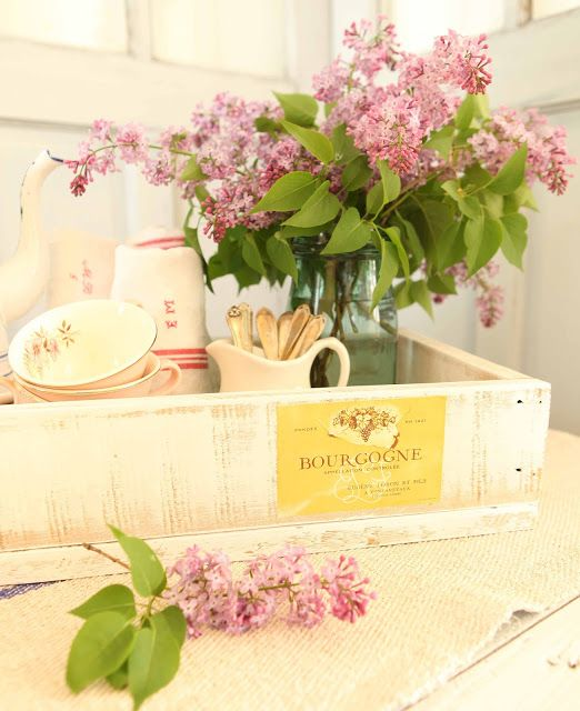 French Larkspur: lilacs and Salvaged Wood Projects