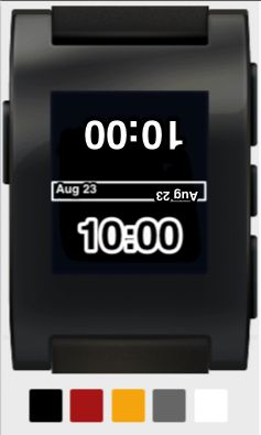I'd like someone who knows how to create Pebble watch faces to give this one a whirl. Perfect when sitting across from your business partner, spouse, or kids...anyone who might ask for the time.