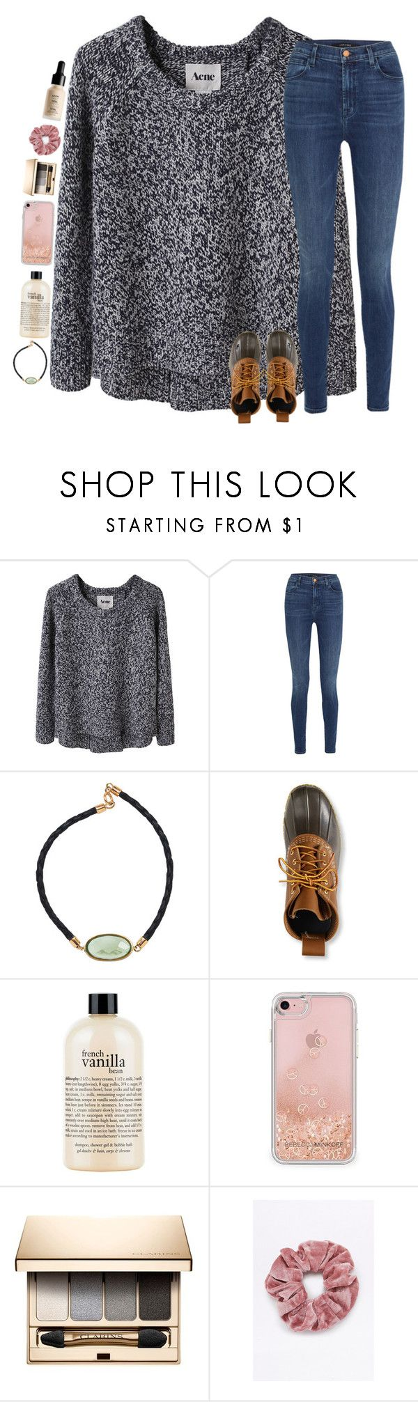 """sweater weather "" by classyandsassyabby ❤ liked on Polyvore featuring Acne Studios, J Brand, Plukka, L.L.Bean, philosophy, Rebecca Minkoff, Clarins and NYX"