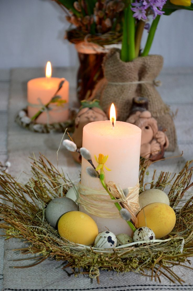 Decor... Easter... candles