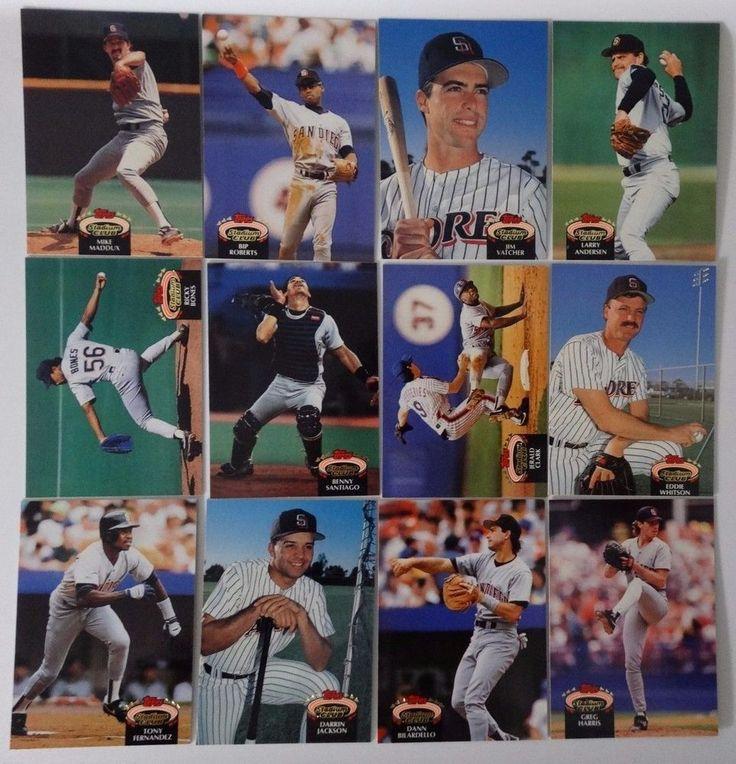 1992 Topps Stadium Club Series 1 San Diego Padres Team Set 12 Baseball Cards #topps #SanDiegoPadres