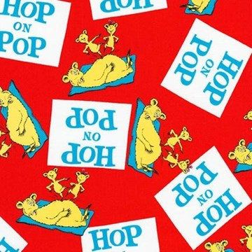 Hop On Pop Fabric / Dr. Seuss Fabric by the yard / Kids fabric / children's quilt / Robert Kaufman  17014-3 Dr Seuss yardage & Fat Quarters by SewWhatQuiltShop on Etsy