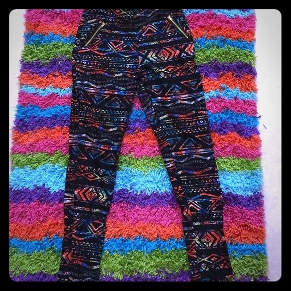 Fleece lined Aztec pant Fleece lined Aztec pant.  Lots of stretch! Super cute!   (7 pairs available) Boutique  Pants Track Pants & Joggers