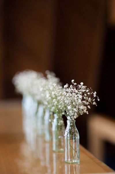 I LOVE baby's breath and/or chamomile as center pieces/bouquets