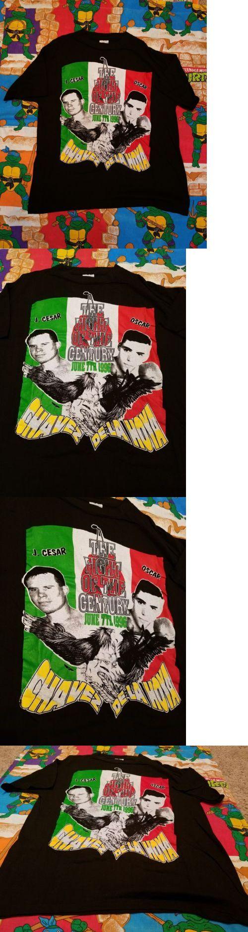 Boxing 1227: Julio Cesar Chavez Oscar De La Hoya The Fight June 7Th 1996 Vtg Boxing Shirt Xl -> BUY IT NOW ONLY: $199.99 on eBay!