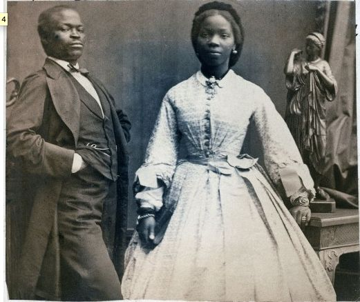They were married at St Nicholas Church in Brighton. Apparently, the wedding was a sight to behold; she had 16 bridesmaids, 10 carriages filled with 'White ladies and African gentlemen, as well as, White gentlemen with African ladies'. Shortly after the wedding, the couple moved to Nigeria where her husband was a member of the Legislative Council from 1872 – 1874 (when the Lagos Colony was amalgamated with the Gold Coast).