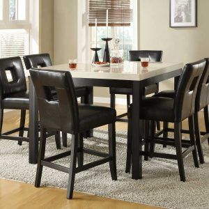 High Dining Room Table And Chairs