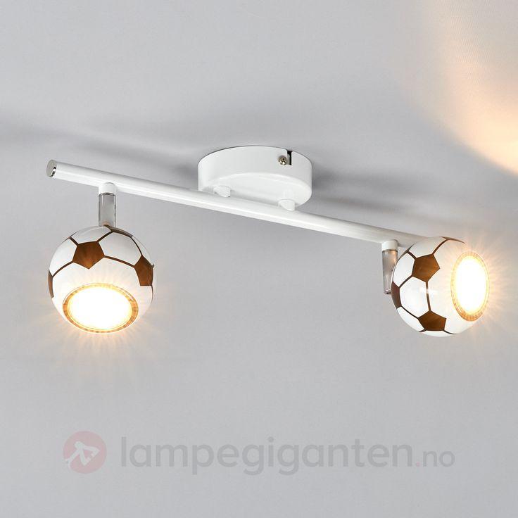 Trendy taklampe Play med LED, med fotball-mønster 8574200