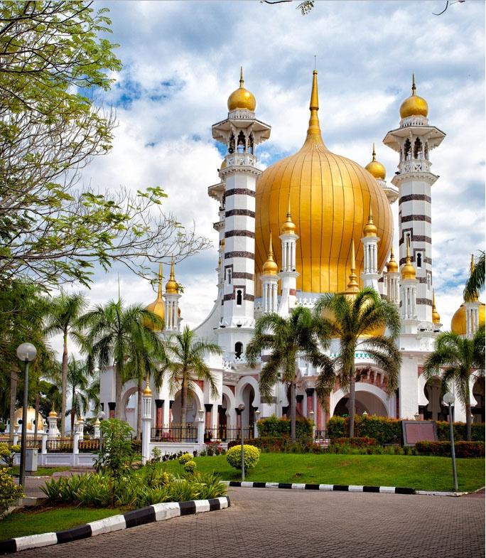 Ubudiah Mosque, Kuala Kangsar, Malaysia. Built in 1917.