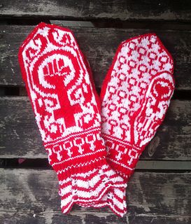 """As it says at the start of the pattern """"fight the cold and the patriarchy this winter"""". Yessss! Gudrun mittens on @ravelry. Best. Pattern. Ever."""