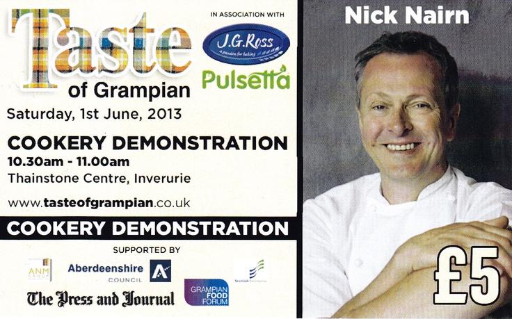 Celebrity Chef Nick Nairn at Taste of Grampian 2013