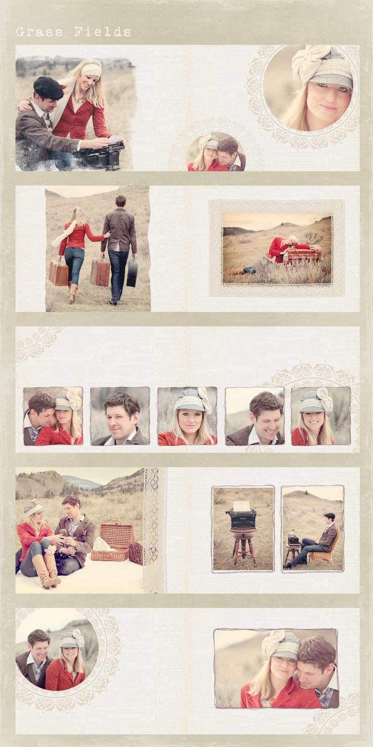Grass Fields Custom Photo Book Design-places to write in memories, etc.