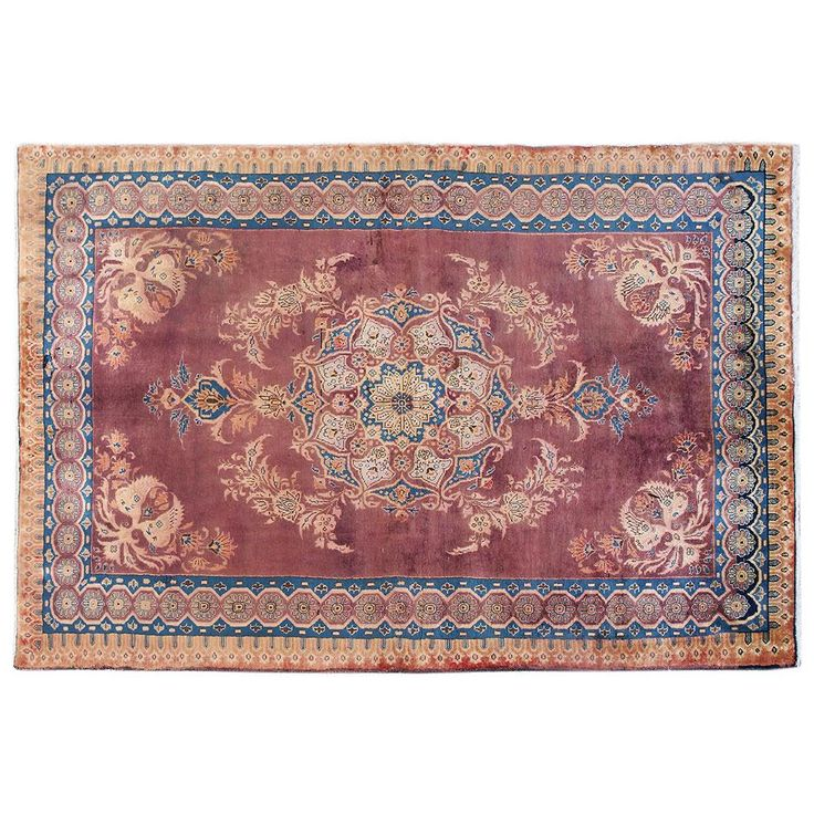 "7'7"" x 4'5"" ,Vintage Persian rug, Traditional area rug for sale, Luxury Persian rug made of merino wool, Oriental carpet, Code : S0101905"