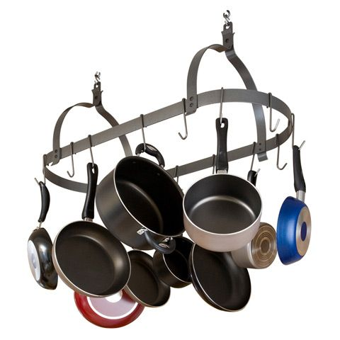 Enclume - Rack it Up Oval Pot Rack $116: Ceilings Oval, Enclum Racks, Oval Pots, Oval Ceilings, Oval Hanging, Hanging Pots Racks, Enclum Mpo01Wg, Ceilings Pots, Steel Construction