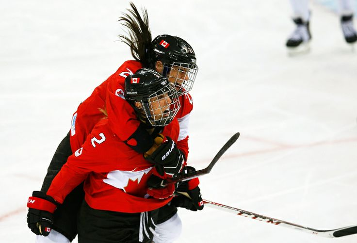 Womens Team Canada!!!  Go Canada! Congrats Canada.. Gold medal (women's hockey) babeyyyy.. We got the men's gold medal locked down too... US got nothing on us...lol...