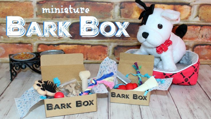 Miniature BarkBox DIY | How to make American Girl Doll BarkBox for your ...
