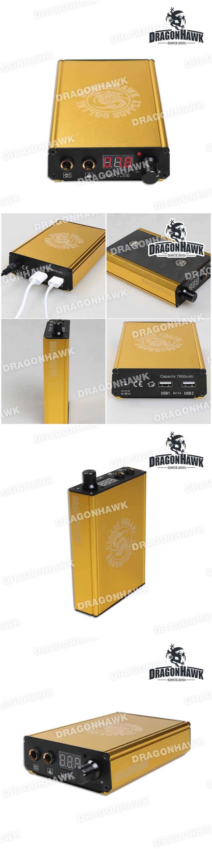 Top Quality Battery Charger Tattoo Power Supply Digital LCD Lithium Tattoo Power Supply