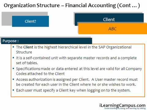 SAP Financial Accounting (FI) organizational structure represents an enterprise in SAP R/3 system for financial accounting point of view. It consists of one or more organizational units which are required for legal reasons or for other specific business-related reasons.