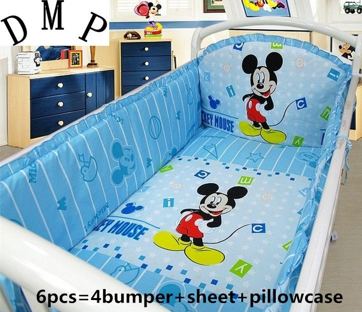 42.20$  Buy now - http://aliqif.shopchina.info/1/go.php?t=32380784909 - Promotion! 6pcs Cartoon Baby Boy 100%Cotton Baby Sets Crib Bedding Set Baby Children Cot Set (bumpers+sheet+pillow cover) 42.20$ #SHOPPING