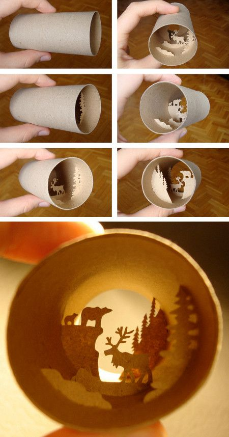 Anastasia Elias, Toilet paper roll art; this just goes to show you don't need expensive supplies to make something amazing!