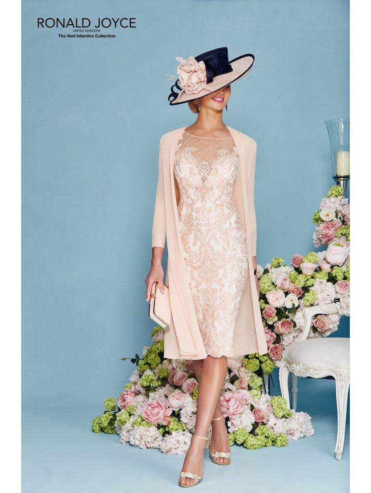 Veni Infantino 991121 Lace Dress With Chiffon Jacket Blush/ivory