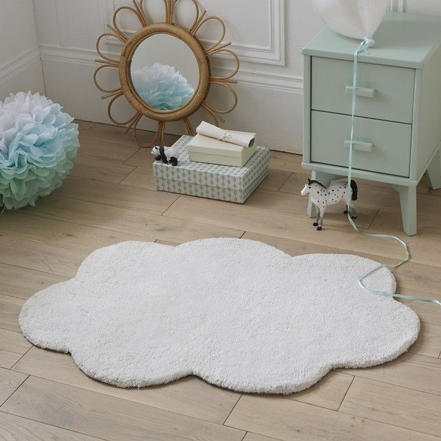 Softness and poetry for this cloud-shaped rug. Description of Dihya rug: Cloud shape.Features of Dihya rug:100% cotton.2 coloursSize of Dihya rug:60 x 90 cm