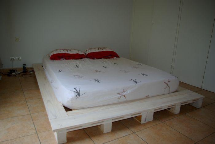 1000 id es sur le th me futon palette sur pinterest lit de futon palettes - Sommier en palettes de bois ...