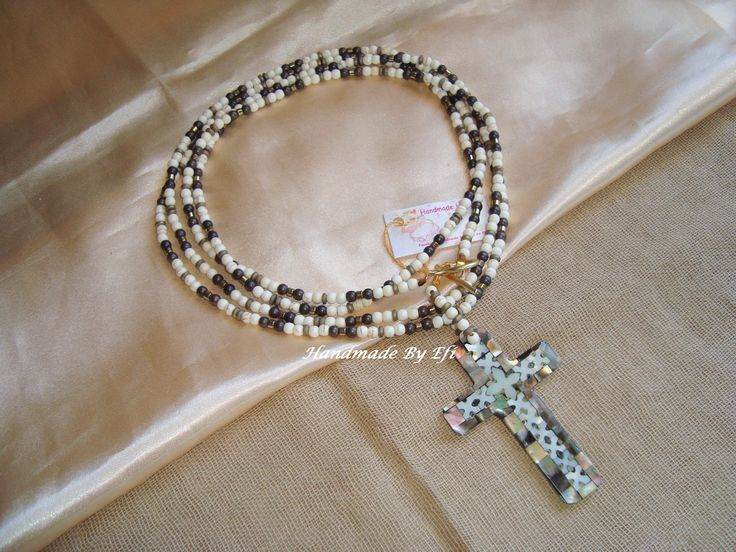 #Handmade_By_Efi #Handmade_Creations_By_Efi #HandmadeByEfi #Handmade #creation #Jewelry #Necklace #Boho #cross #shell #Hematite #Howlite #Woman