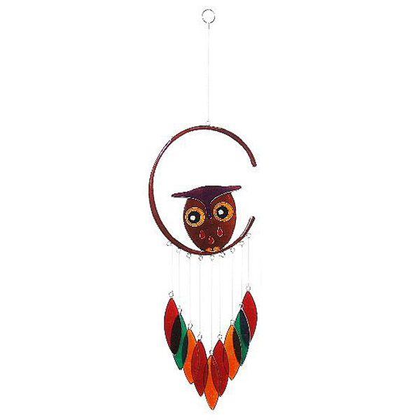 BIG OWL fair trade závěsná vitrážová dekorace - fair trade oblečení z biobavlny, bambusu, konopí, modalu, tencelu a merino, přírodní kosmetika, bambucké máslo, fairtrade bytové doplňky