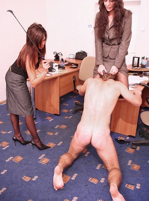 Femdom subjugation of the male