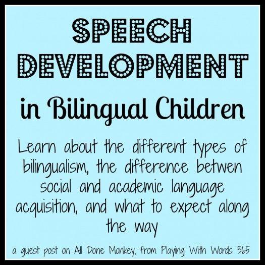Speech Development in Bilingual Children