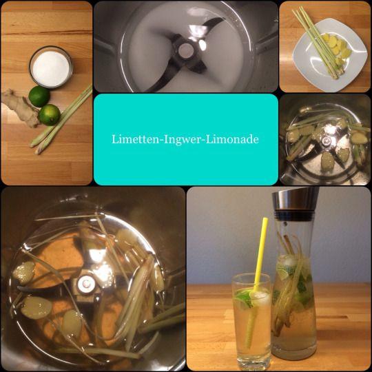 Es wird heiß! ☀️ *** Limetten-Ingwer-Limonade *** ☀️ … sehr erfrischend, lecker und: Da weiss man, was drin ist!