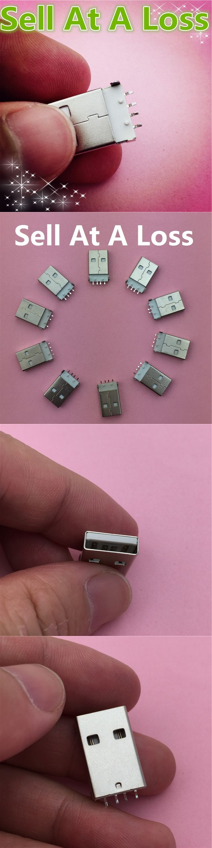 10pcs G48 USB 2.0 4Pin A Type Male Plug Connector for Data Transmission Charging High Quality Sell At A Loss USA Belarus Ukraine